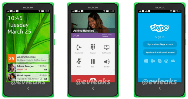 The Nokia Normandy runs a custom version of Google's Android operating system.