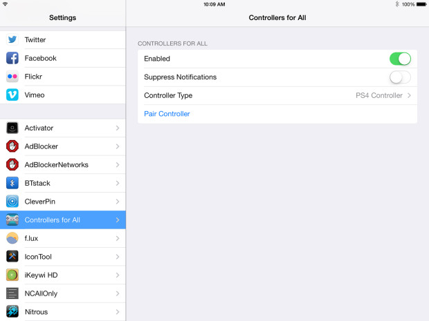 how to connect ps4 controller to ipad 2