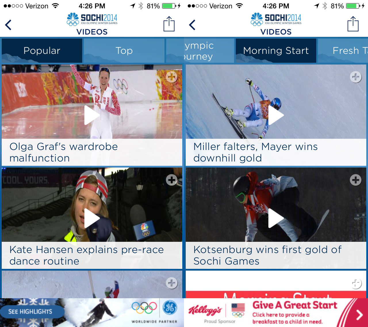 2014 Olympics Highlights from Sochi Arrive on iPhone and ...