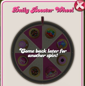 Spin the wheel to get Candy Crush items free.