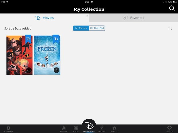 The Disney Movies Anywhere app is a great companion to Frozen on iTunes.