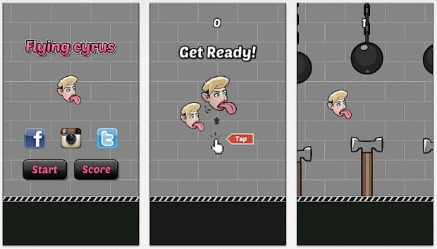 Flappy Cyrus Wrecking Ball is a parody game.