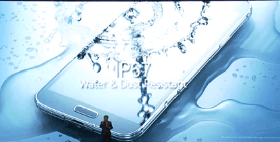Don't worry about getting a little water or dust on the Galaxy S5.