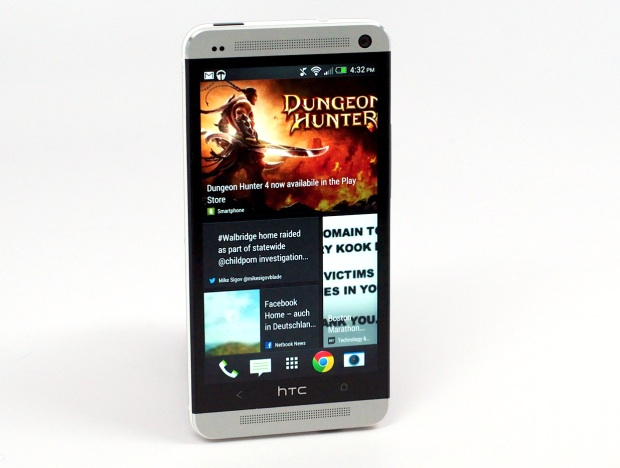 htc one has two speakers on front