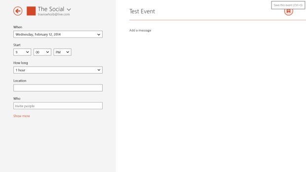 How to Add An Event to the Calendar in Windows 8 (5)
