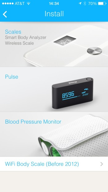 Withings Offers a number of devices to monitor via its App
