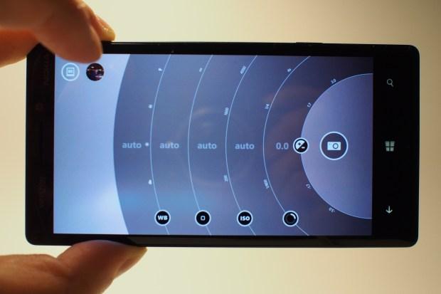 Nokia Pro Camera app on the Lumia Icon