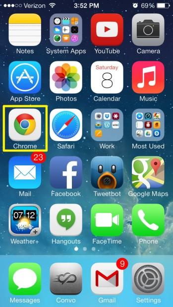 Open Chrome (iPhone)