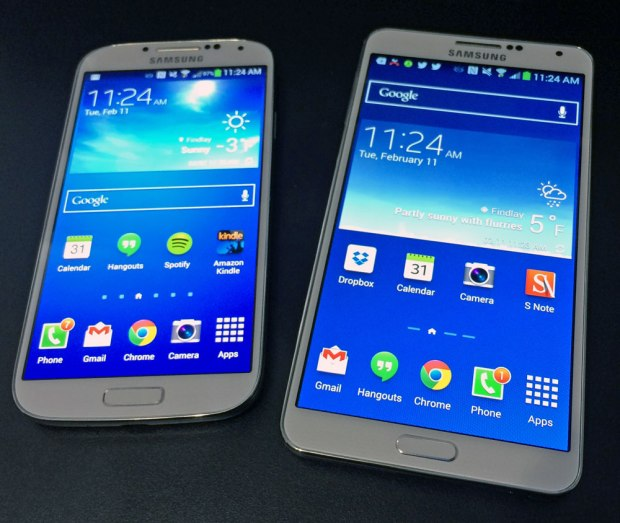 Leaked Samsung Galaxy S5 dimensions suggest a slightly larger design, but nothing concrete.