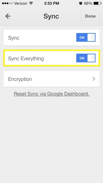 Sync everything (iPhone)