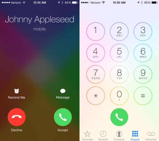 The iOS 7.1 update will bring a few more visual changes.