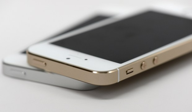 The iPhone 5s is available in three colors with an aluminum body.