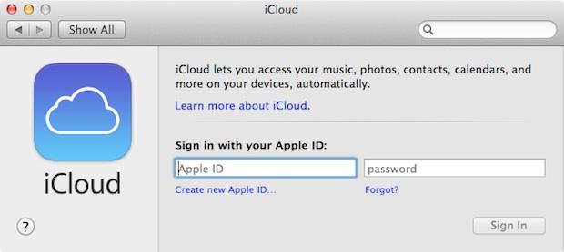 icloud mac setup in settings