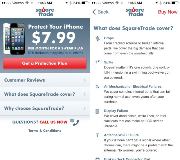 A used iPhone warranty is available for any iPhone from SquareTrade.