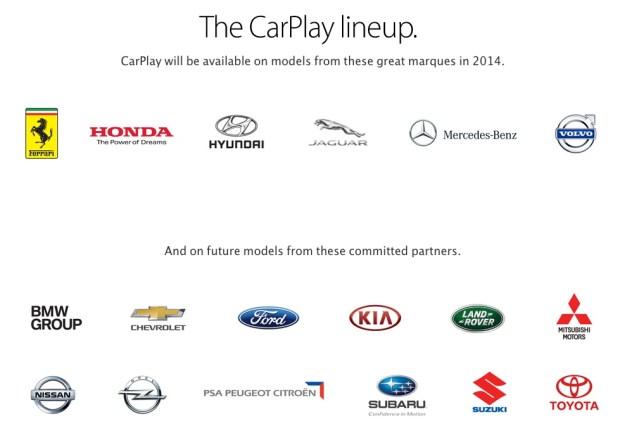carplay lineup