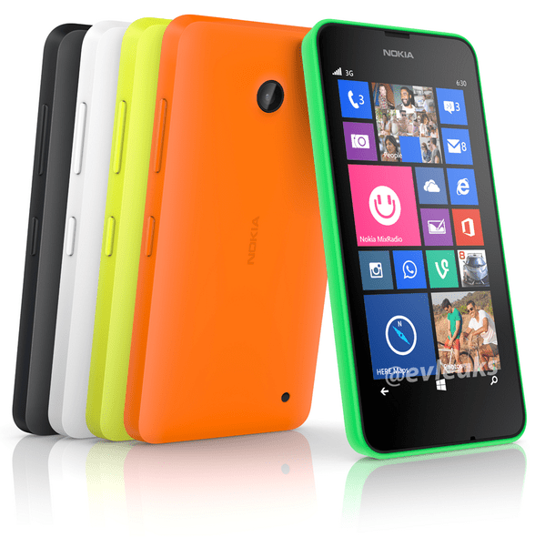 A leaked photo of the Lumia 630 posted by EvLeaks.