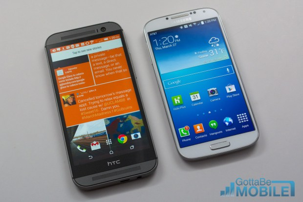 New HTC One M8 vs - GS4 2-X3