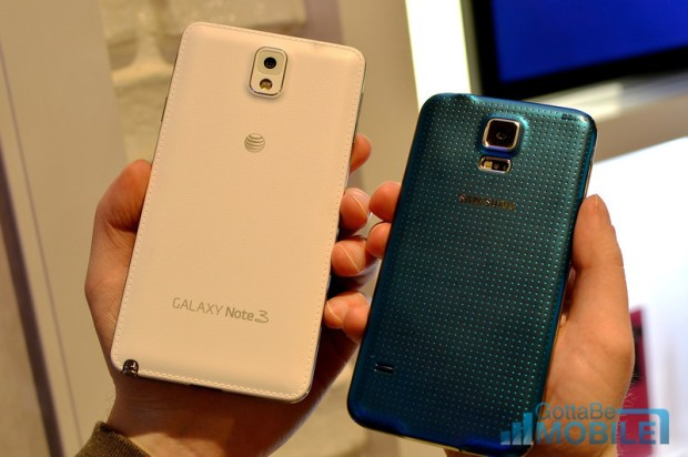 Samsung Galaxy S5 vs Galaxy Note 3 - 4-L