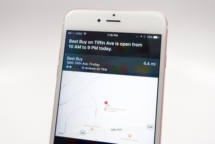 Check store hours using Siri.