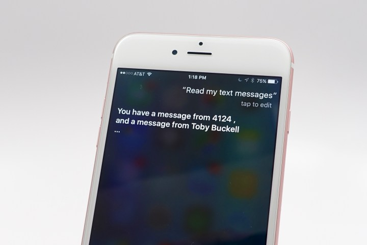 Check voicemail and messages with Siri on iPhone.