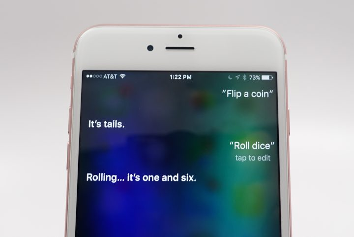 Roll dice or flip a coin using Siri.