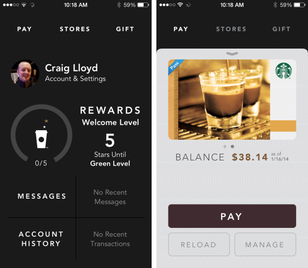 Starbucks iPhone app updated with new features