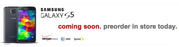 Target shows a Verizon logo on the pre-order page.