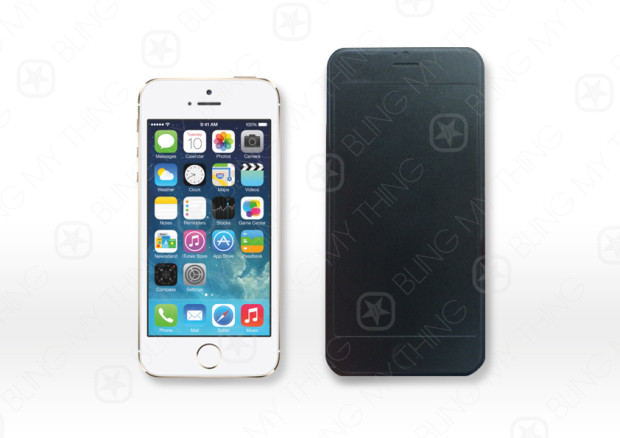 iPhone 5s vs an iPhone 6 design sample showcases size differences.