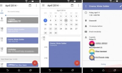 The Calendar app shows a similar circle for adding events as the Google + app.