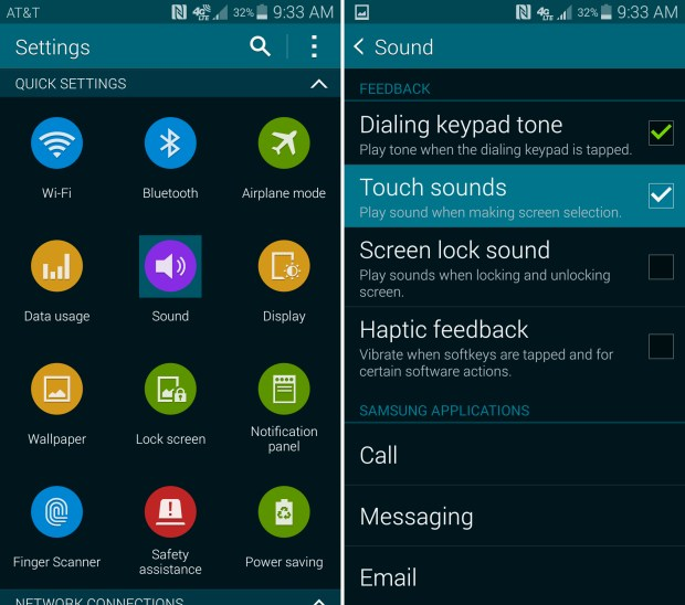 How to Turn Off Obnoxious Galaxy S5 Sounds