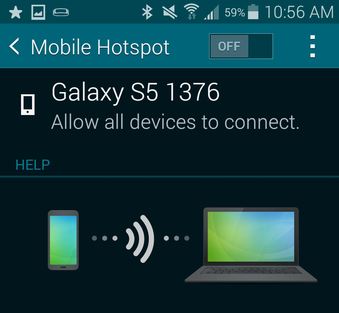 How to Use the Samsung Galaxy S5 as a Personal Hotspot