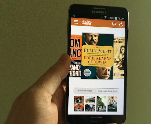 Using the Kindle for Samsung App