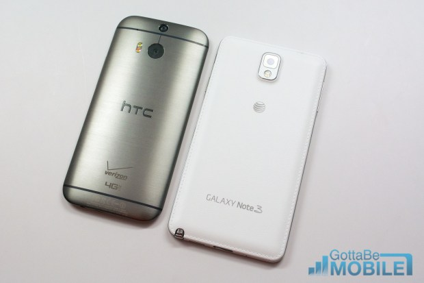 New HTC One M8 vs - note3 17-X3