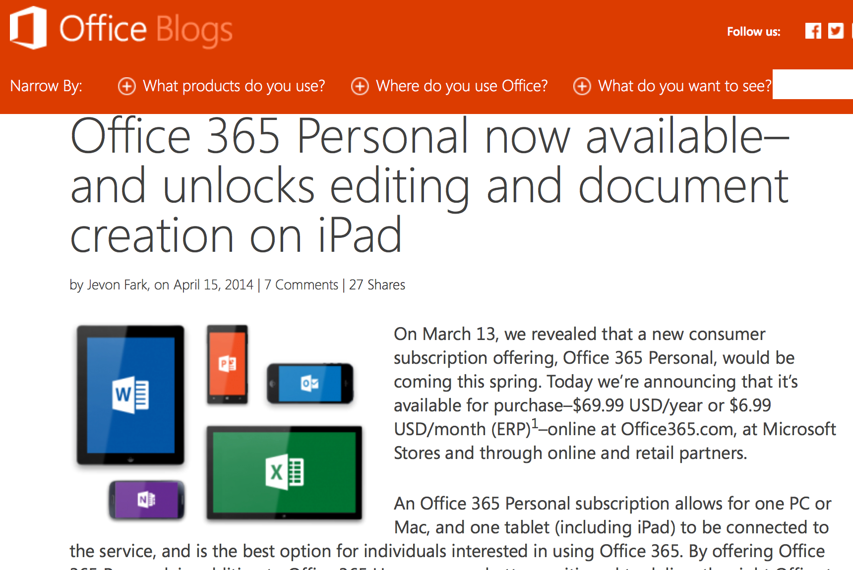 Microsoft office 365 personal now available for per year - Installer office 365 personnel ...