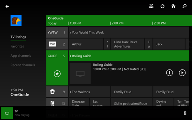 Updated OneGuide for SmartGlass functionality.