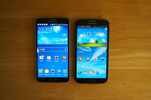 Galaxy Note 3 vs. Galaxy Note 2.