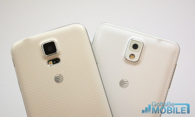 Samsung Galaxy S5 vs Galaxy Note 3 -  Cameras