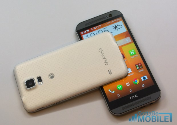 Check out how the Galaxy S5 vs HTC One M8 smartphones stack up.