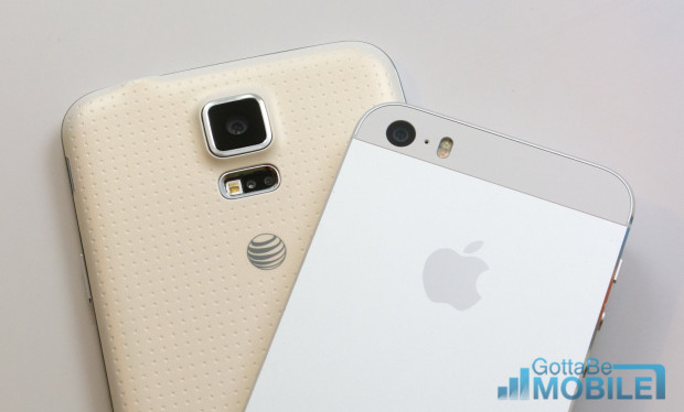 With this information you can pick between the Galaxy S5 and the iPhone 5s as your next phone.