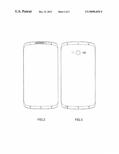 A filing back in January revealed this possible Galaxy Note 4 design.