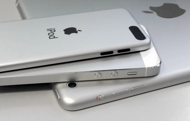 The iPhone 5s is an odd device out in terms of button design and curved edges.