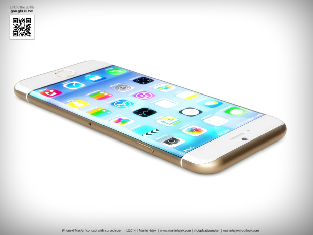 This iPhone 6 concept also uses a larger display.