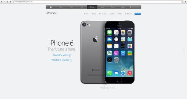 iPhone 6 mockup page.
