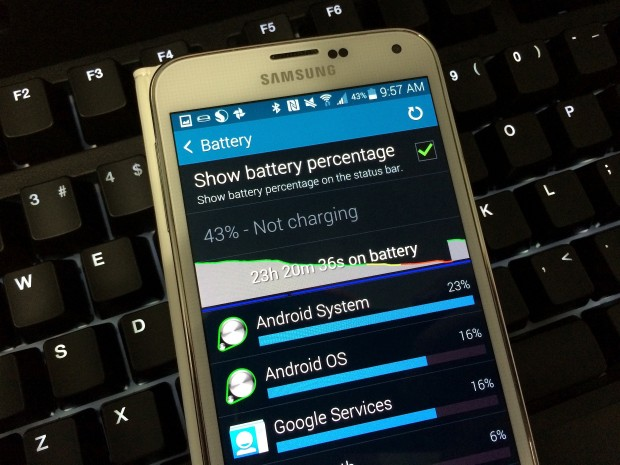 See what apps use your Galaxy S5 battery the most and take control.