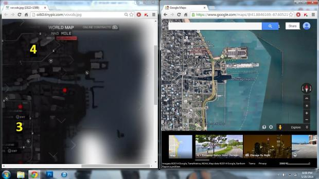 Watch Dogs vs real life Chicago with Google Maps.