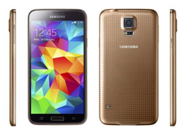 The gold Galaxy S5 is heading to Verizon it seems.