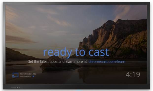google chromecast ready to cast screen
