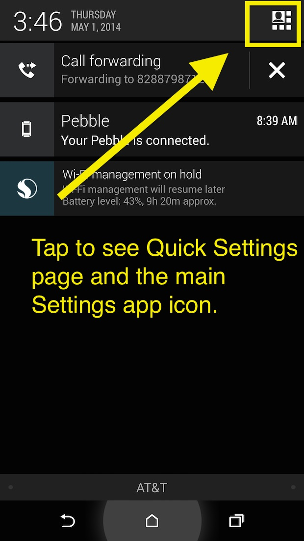 htc one m8 notification screen