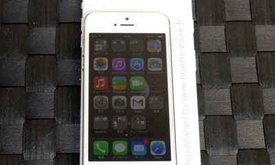 This shows what an large iPhone 6 screen size could look like next to an iPhone 5s with a 4-inch display.