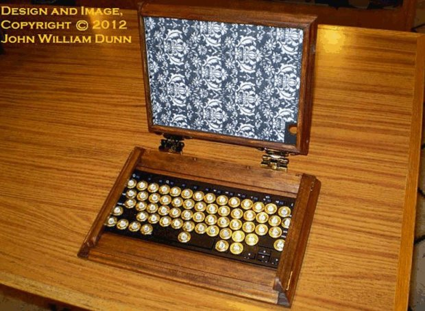 icog steampunk ipad air case open